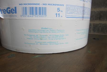 Etichetta - Stracciatella per gelato