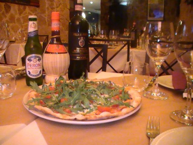 Porto di Mare - Pizza, Peroni, Chianti in Fiaschetto, Brunello di Montalcino