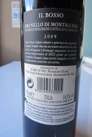 Etichetta - Brunello Montalcino