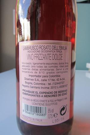Etichetta Lambrusco