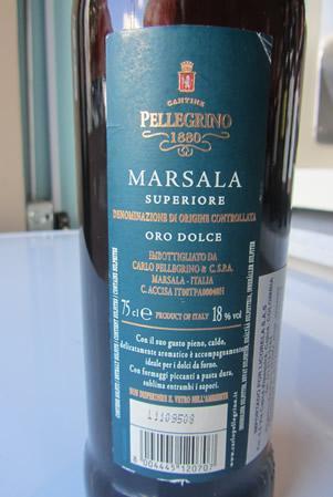 Etichetta Marsala
