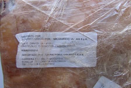Etichetta Prosciutto Villani