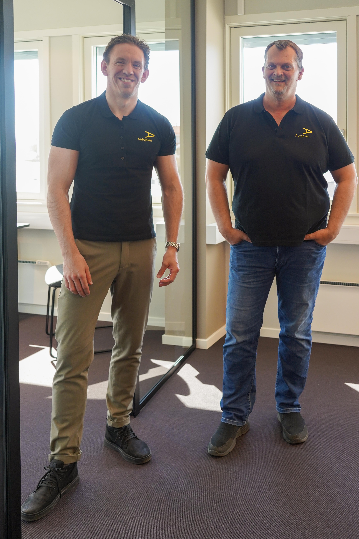 Salgssjef Kenneth Skjønhaug og KAM Christian Nordeng