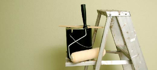 Paint pots for an Admiral Home improvements loan