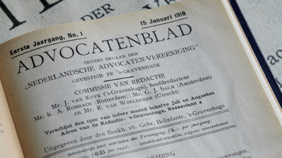 honderd jaar Advocatenblad