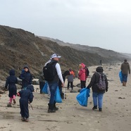 Durlston Court beach clean up