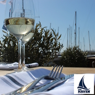 Indoor and outdoor dining and bar with a view in Lymington