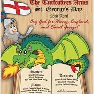 Traditional English menu and music for St George's Day