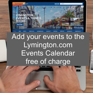 Add your events to the Lymington.com Events Calendar and get in touch if you'd like us to advertise them!