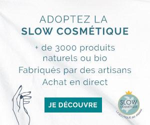 bannière slow cosmétiques