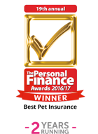 Personal Finance Awards 2017 – Pet Insurance Provider of The Year