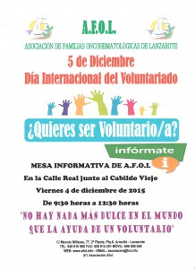 Cartel Dia del Voluntariado