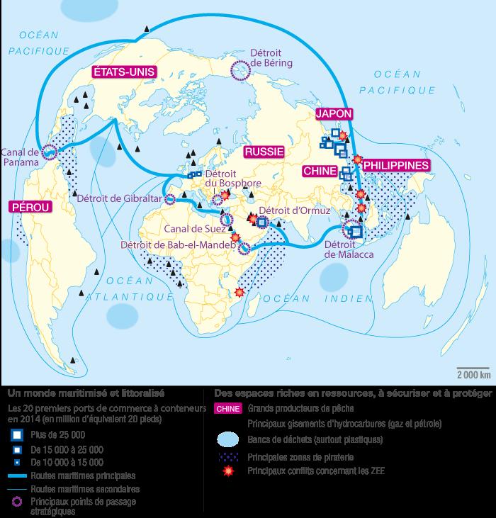 Mers Et Oceans Un Monde Maritimise Fiche De Revision Afterclasse