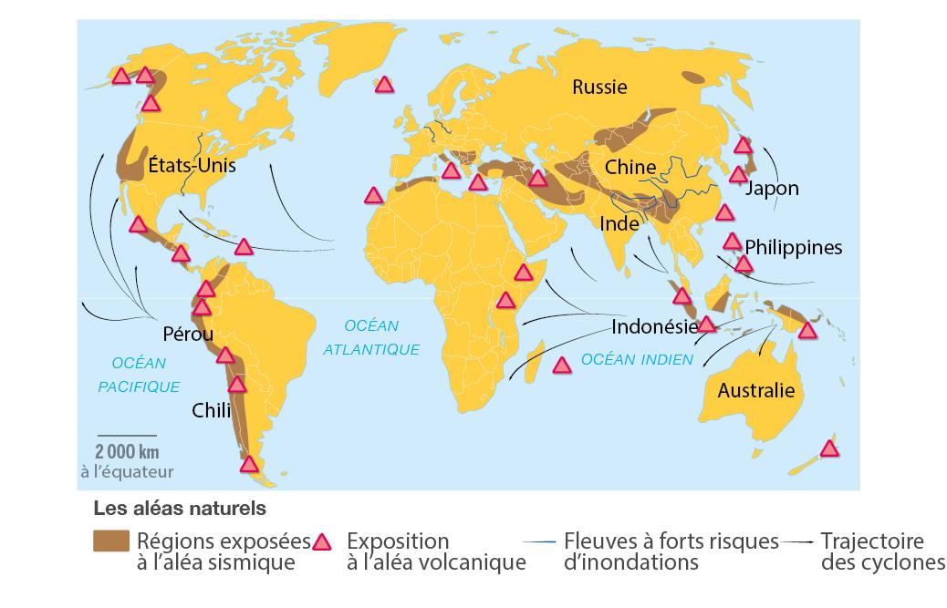 Carte Sismique Inde.Les Risques Sismiques Et Volcaniques Schemas Cours En Ligne