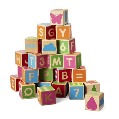 ALPHABET BLOCKS, 36 PCS