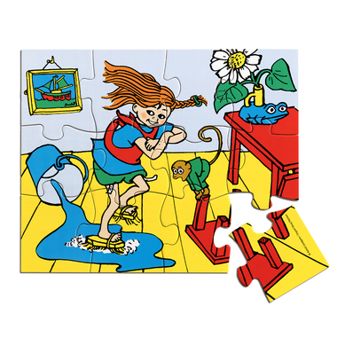 WOODEN PIPPI JIGSAW PUZZLE, 12