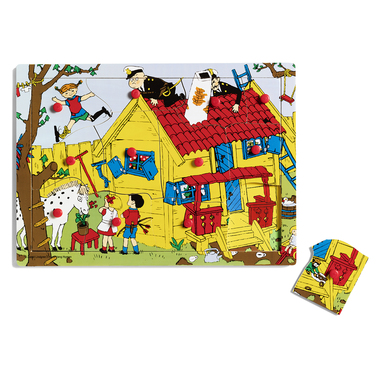 PIPPI PEG PUZZLE WOOD, 12 PC