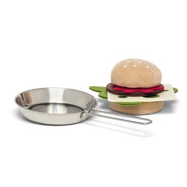 HAMBURGER WITH FRYING PAN