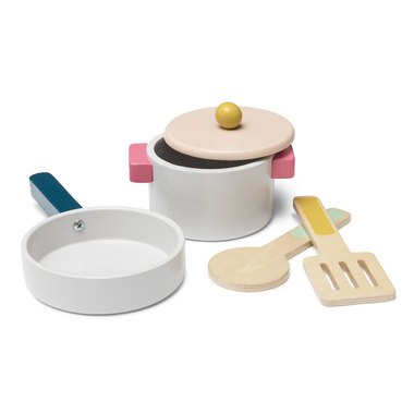 MICKI WOODEN POT AND PAN SET