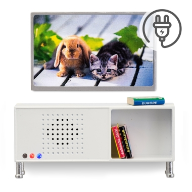 LUNDBY STEREO SIDEBOARD+TV SET
