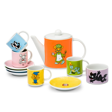 BAMSE COFFEE SET, PORCELAIN