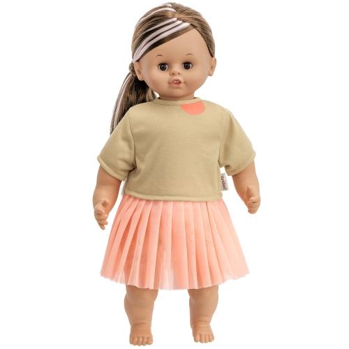 Skrållan docka mörkt hår 45 cm