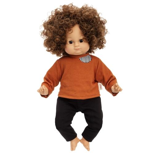 Lillan docka mörkt hår 36cm