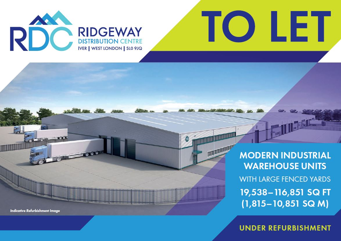 Industrial Iver, SL0 9JQ - Units 1B, 1C, 1D & 1G Ridgeway Distribution Centre