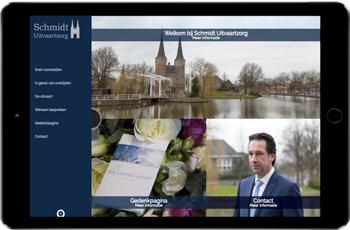 Schmidt Uitvaartzorg Mockup Website