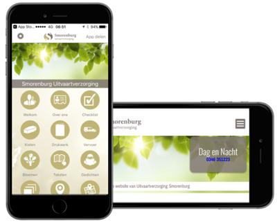 Smorenburg Mockup App Website