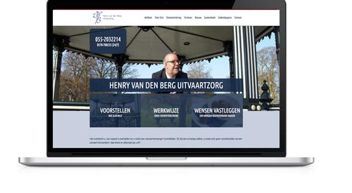 Van Den Berg Mockup Website