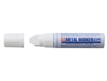 Metal marker 10 mm wit