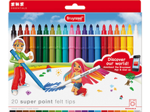 Super point felt tips set 20