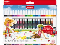 Twin point felt tips set 20