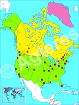 Noord-Amerika blind XXL