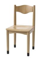 Leerlingstoel 410-serie multiplex zitting blank
