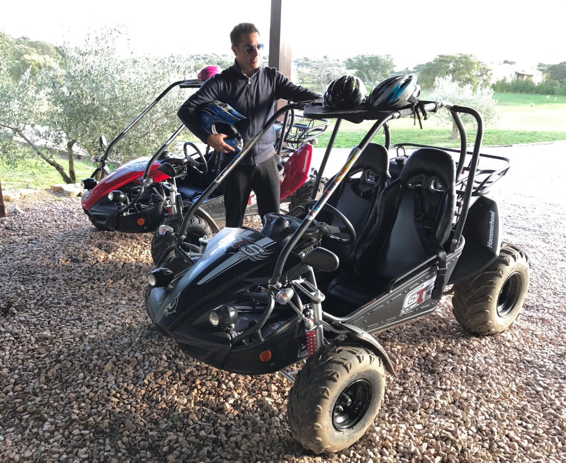 Gino D'Acampo in Sardinia with a Stormbuggy