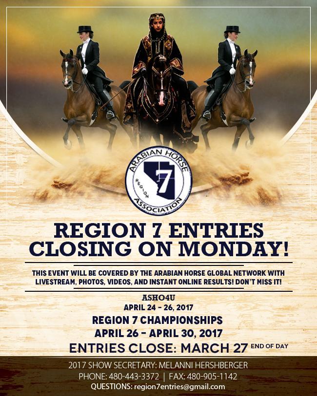 Region 7 Championship - Entries Closing On Monday