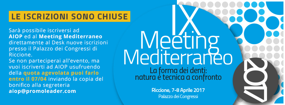 IX Meeting Mediterraneo
