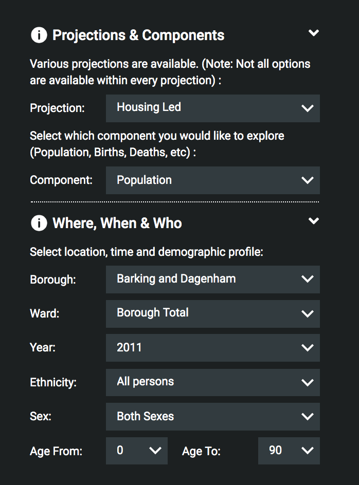 Population Explorer Data & Graphic Downloads Main Menu