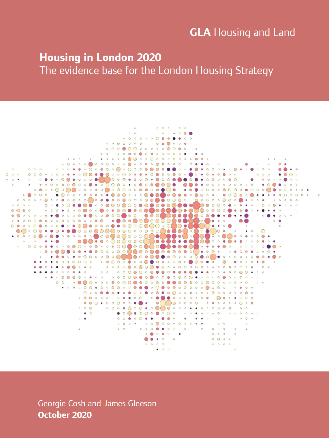 Front cover of the GLA's Housing in London 2020 report