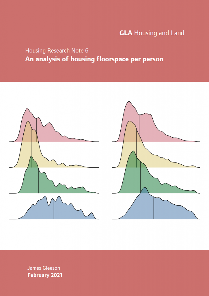 Front cover image of Housing Research Note 6 - An analysis of housing floorspace per person