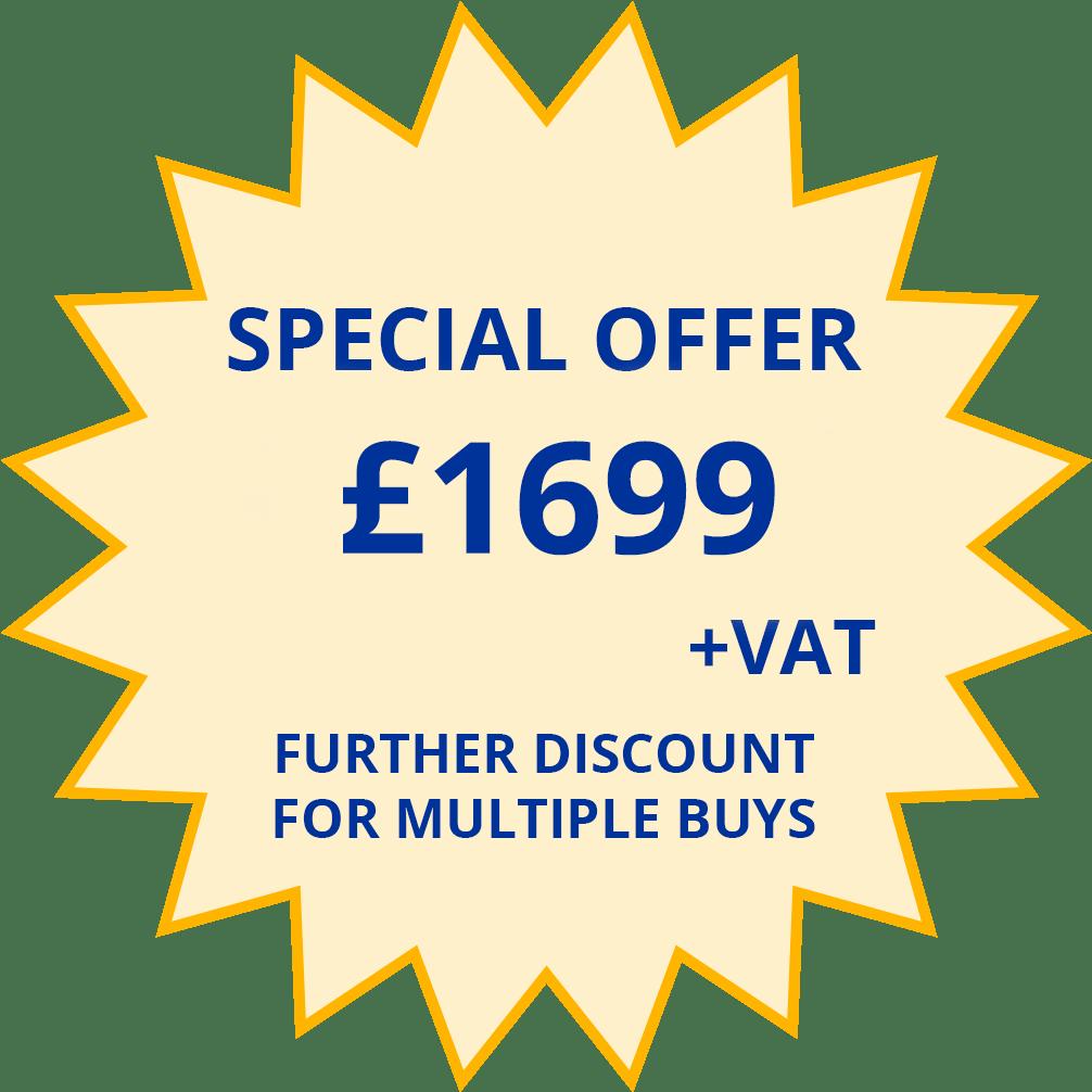 SPECIAL OFFER - £1699 + VAT