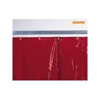 Welding curtain, red, H 2,400 x W 1,300 mm, 1.90 kg