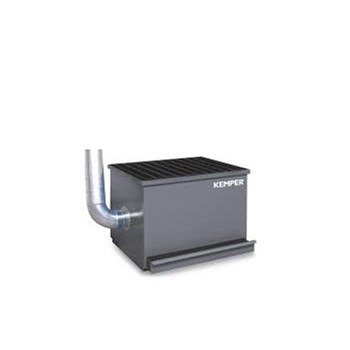 table dimensions: w = 800 mm, d = 600 mm, h = 800 mm, aspiration port: Ø 160 mm