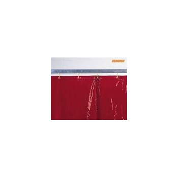 Welding curtain, red, H 2,000 x W 1,300 mm, 1.60 kg