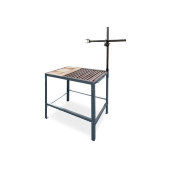 Welding Training Table dimensions: w = 600 mm, d = 600 mm, h = 800 mm