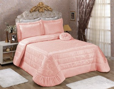 Evlen Romantik Yatak Örtüsü - Pudra