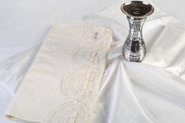 Evlen Ottoman Bohça Havlu - Krem