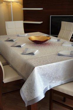 Evlen Leke Tutmaz Masa Örtüsü - Gümüş 9 Pcs*
